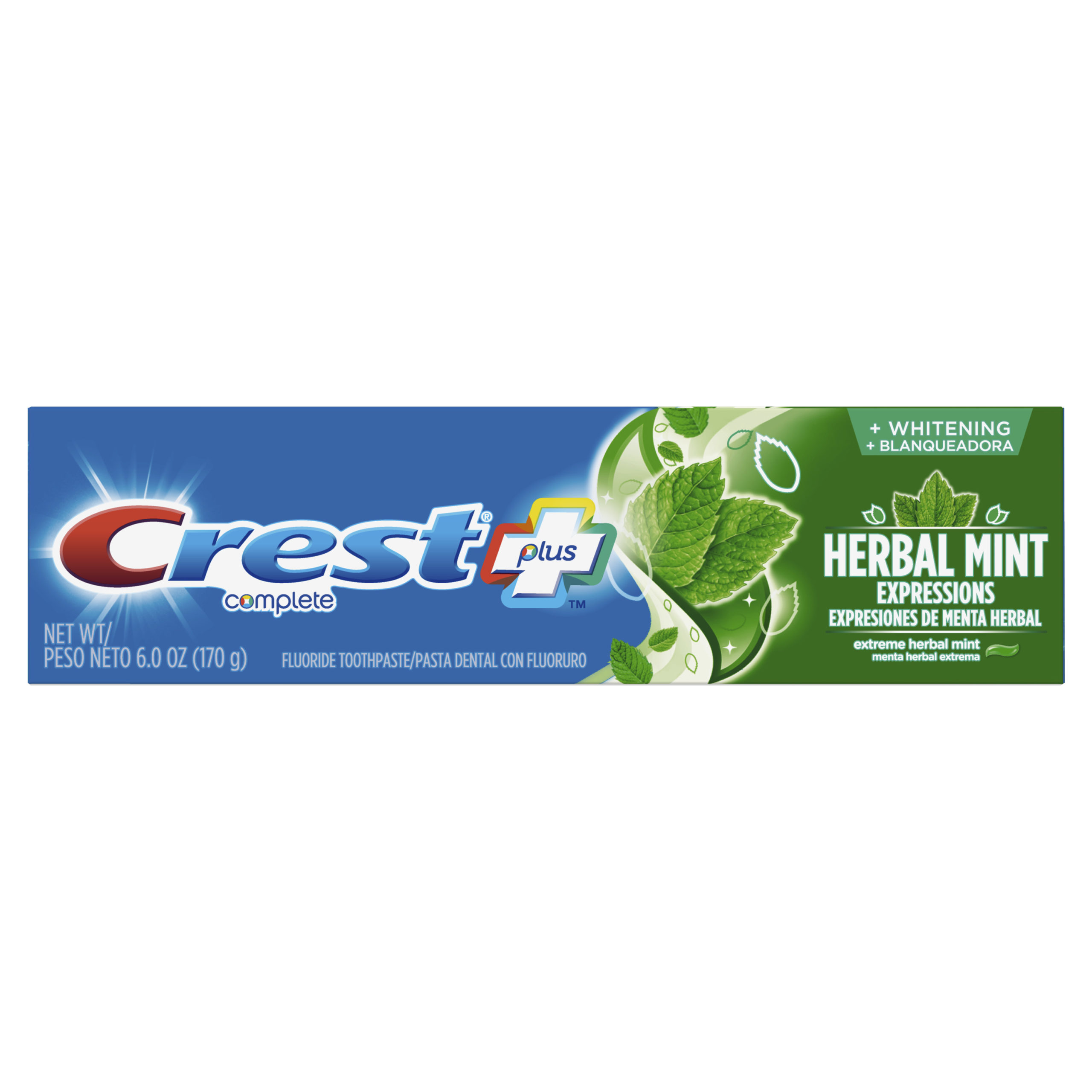 Crest Complete Whitening Plus Herbal Mint Expressions