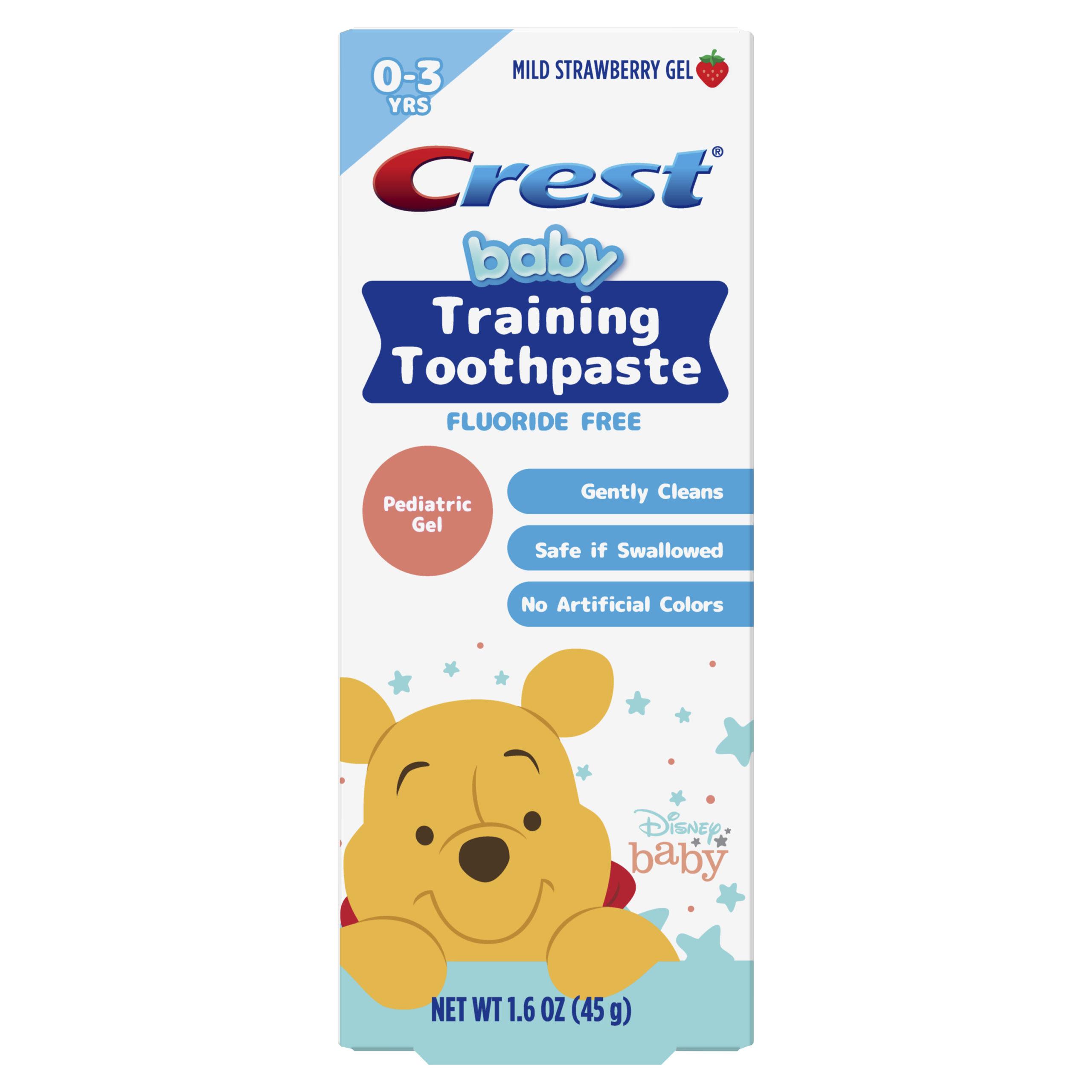 Crest Training Toothpaste, featuring Disney's Winnie the Pooh, Mild Strawberry Gel