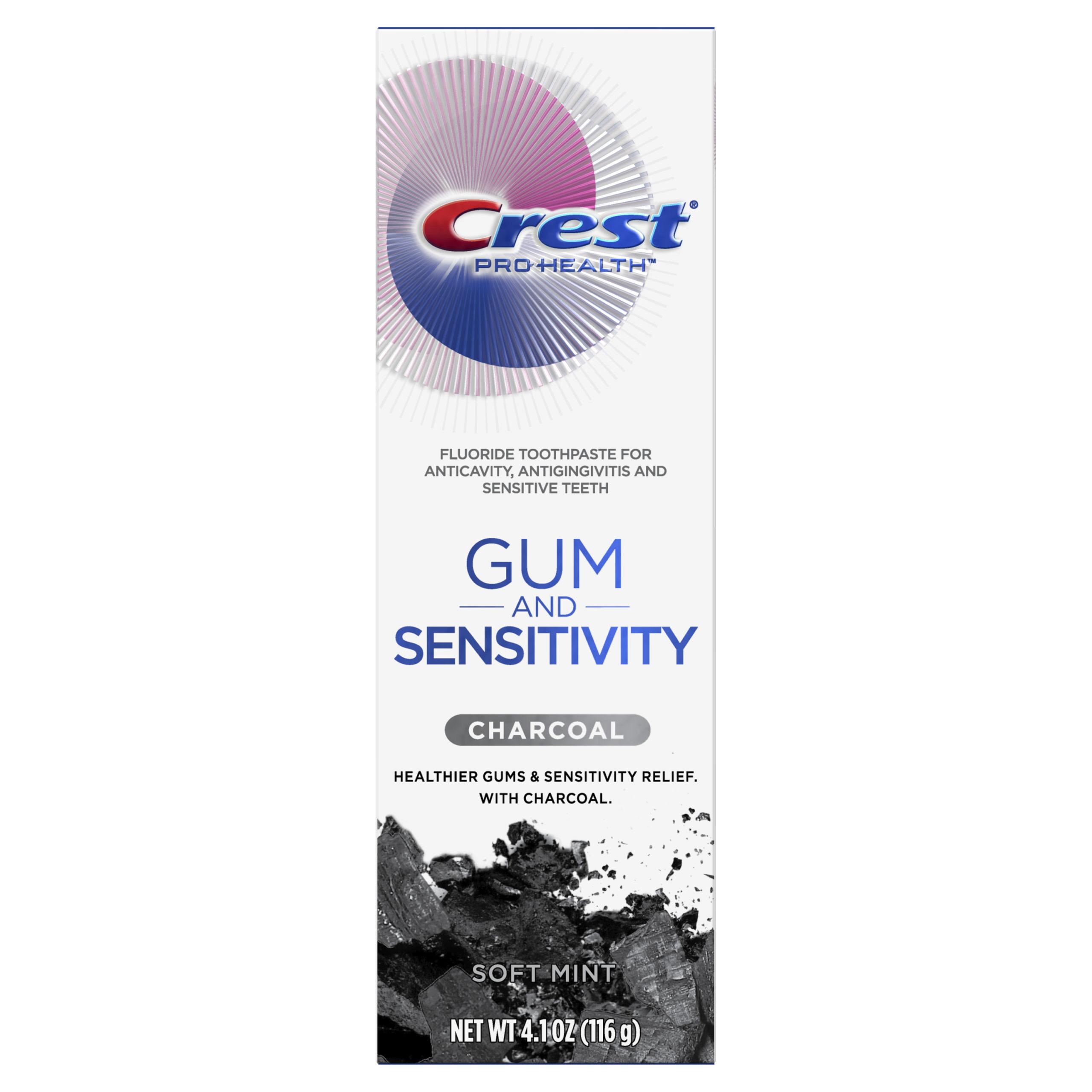Crest Gum and Sensitivity Charcoal