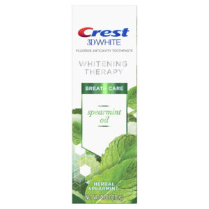 Crest 3D White Whitening Therapy Toothpaste, Spearmint Oil