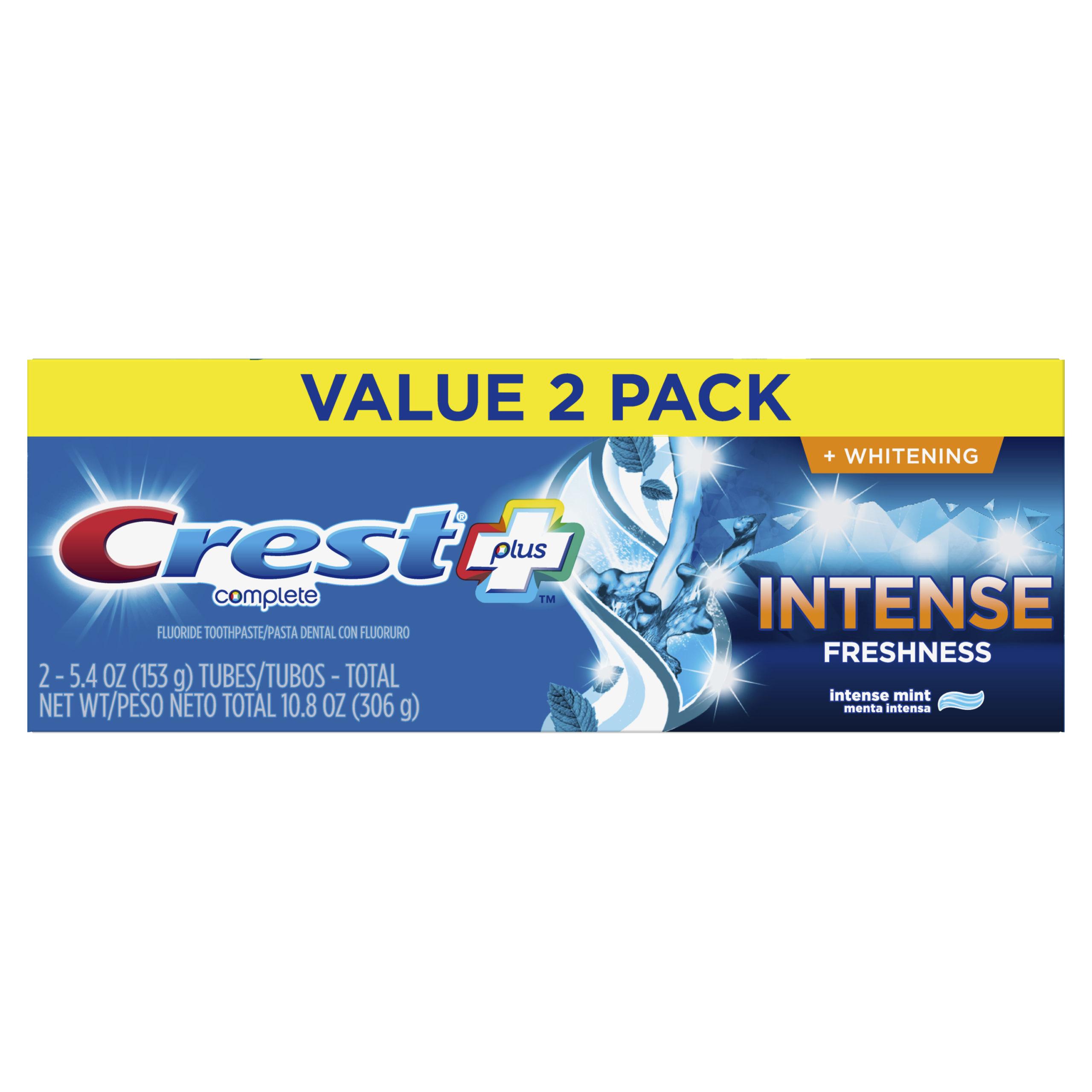 Crest Plus Intense Freshness Complete Whitening
