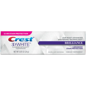 Crest 3D White Brilliance Advanced Whitening Technology Plus Advanced Stain Protection, Vibrant Peppermint