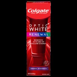 Colgate Optic White Renewal Teeth Whitening Toothpaste, Enamel Strength