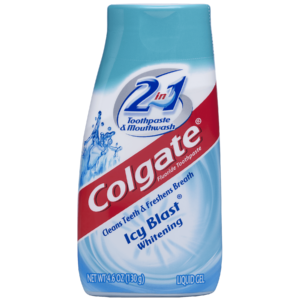 Colgate 2-in-1 Whitening Toothpaste Gel and Mouthwash, Icy Blast