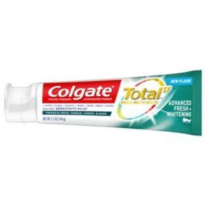 Colgate Total Whitening Toothpaste, Advanced Fresh + Whitening Gel