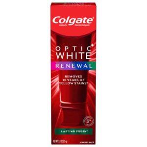 Colgate Optic White Renewal Lasting Fresh Teeth Whitening Toothpaste