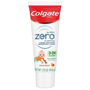 Colgate Zero Baby Toothpaste, Mild Fruit - 3-24 months