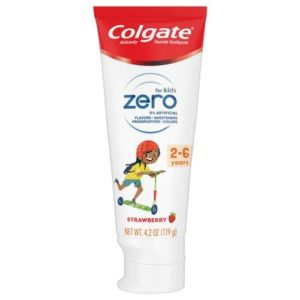Colgate Zero Kids Toothpaste, Strawberry - 2-6 years