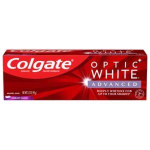 Colgate Optic White Advanced Teeth Whitening Toothpaste, Vibrant Clean