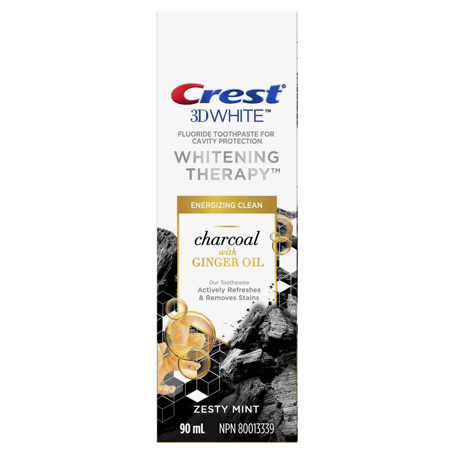 Crest 3D White Whitening Therapy Toothpaste, Charcoal with Ginger Oil