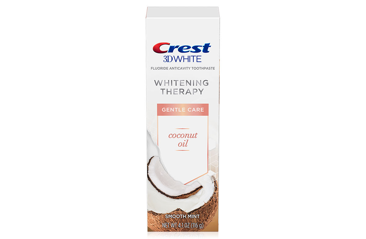Crest 3D White Whitening Therapy Gentle Care Coconut Oil