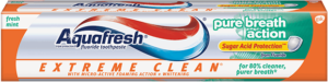 Aquafresh Extreme Clean Pure Breath Action Fluoride Toothpaste, Extreme Clean