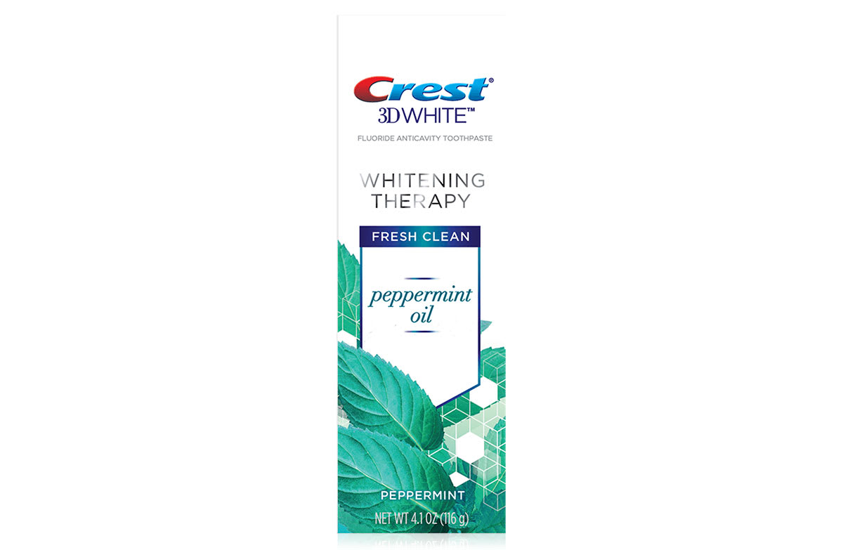 Crest 3D White Whitening Therapy Toothpaste, Peppermint Oil