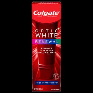 Colgate Optic White Renewal Teeth Whitening Toothpaste, High Impact White