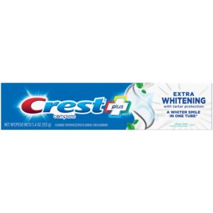 Crest Complete Plus Extra Whitening Toothpaste with Tartar Protection Clean Mint