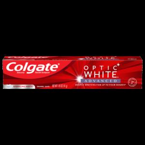 Colgate Optic White Advanced Teeth Whitening Travel Sized Toothpaste, Sparkling White
