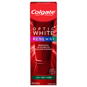 Colgate Optic White Renewal Teeth Whitening Toothpaste, Lasting Fresh