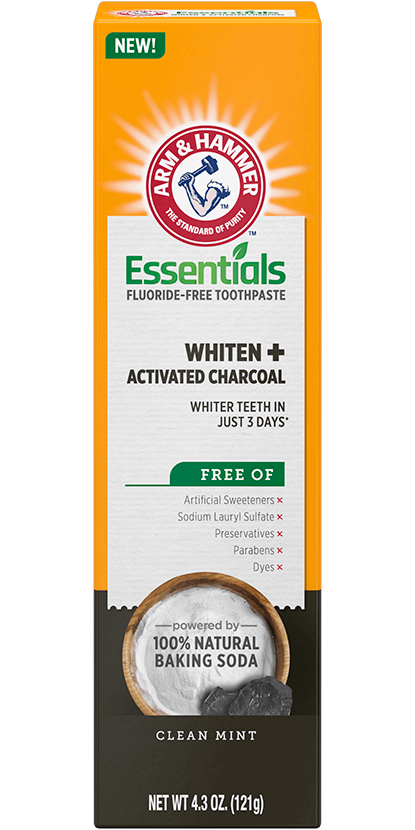 Arm And Hammer Essentials Fluoride-Free Toothpaste Whiten + Activated Charcoal