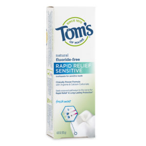 Tom's of Maine Rapid Relief Sensitive Fluoride-Free Fresh Mint
