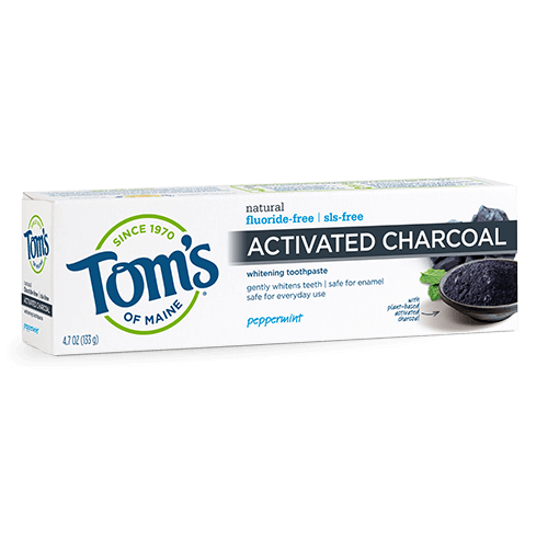 Tom's of Maine Activated Charcoal Peppermint Fluoride Free