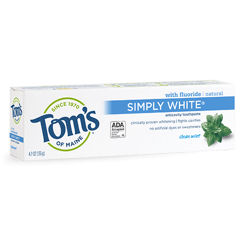 Tom's of Maine Natural Simply White Clean Mint