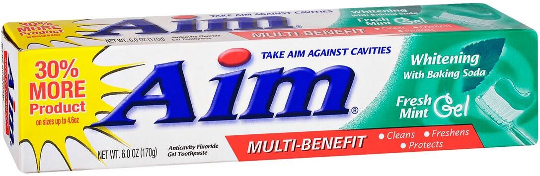 Aim Toothpaste Gel Whitening Mint