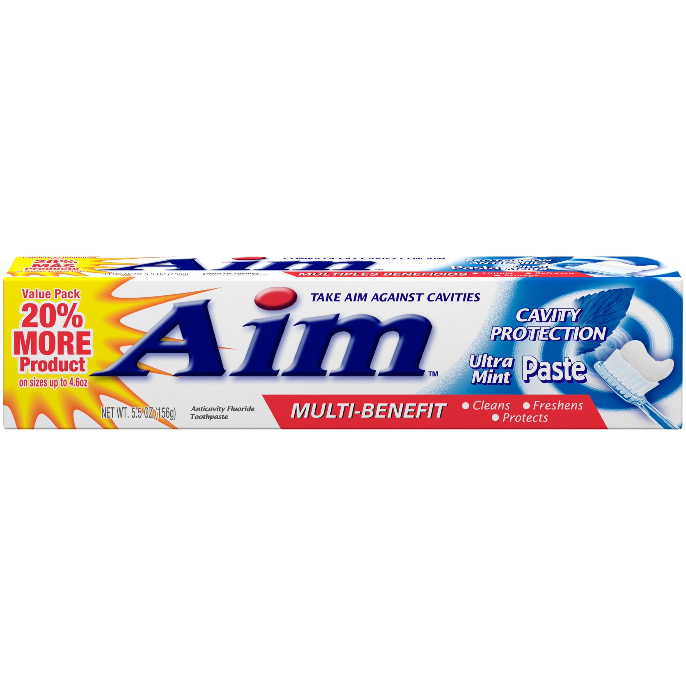 Aim Multi-Benefit Cavity Protection Gel, Ultra Mint